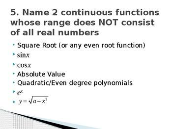Calculus Quick Quizzes