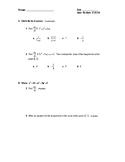 Calculus Quiz 2.5 & 2.6 (Implicit Differentiation & Relate
