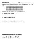 Calculus Quiz - Derivative Rules