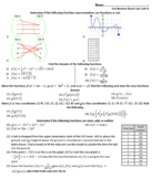 Calculus Test Review - Stewart Chapter 1