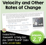 Calculus Velocity and Other Rates of Change with Lesson Vi