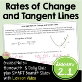Calculus Rates of Change and Tangent Lines with Lesson Vid