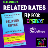 Calculus Related Rates Flip Book Foldable Organizer