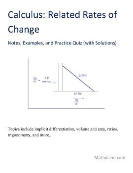Calculus: Related Rates of Change