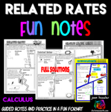 Calculus Related Rates Comic Book Doodle Notes and Practice