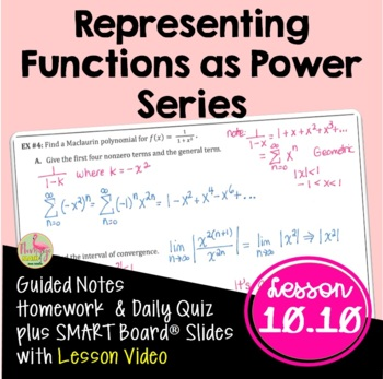 Calculus: Representing Functions by Power Series