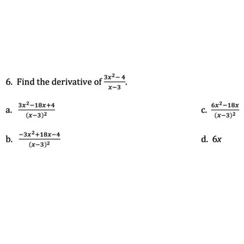 Digital Calculus Review Game Derivatives, 50 Multiple Choice Questions, Editable