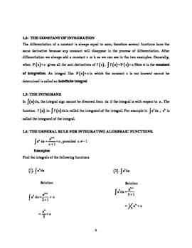 Calculus Review Guide for Students (Handout / Study Aid)