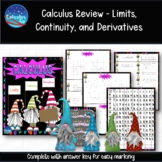 Calculus Review - Limits, Continuity, and Derivatives