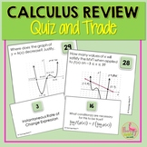 Calculus Review Quiz and Trade Activity