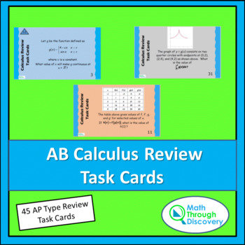 AB Calculus Review Task Cards
