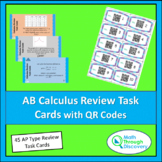 AB Calculus Review Task Cards with QR Codes