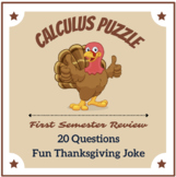 Calculus Thanksgiving Review Puzzle