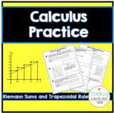 Calculus Riemann Sums and Trapezoidal Rule Practice