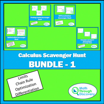 Calculus Scavenger Hunt Bundle #1