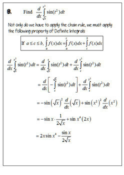 Calculus Second Fundamental Theorem of Calculus Flip Book and Problems Set