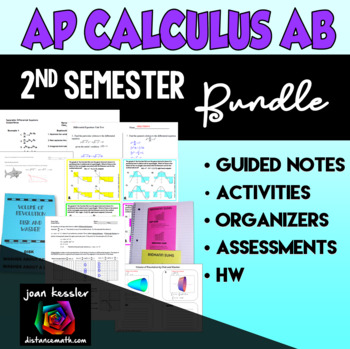 Calculus Second Semester Bundle of Activities