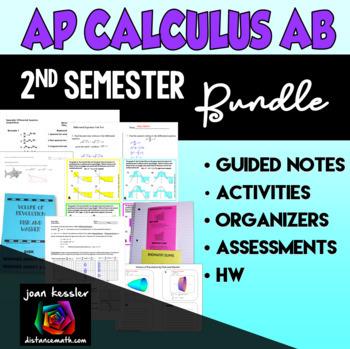 Calculus Second Semester Bundle of Activities