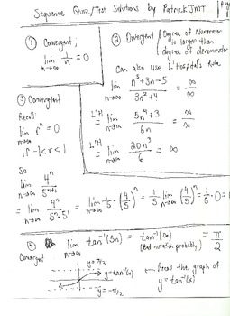 calculus sequence and series questions with solutions by patrickjmt