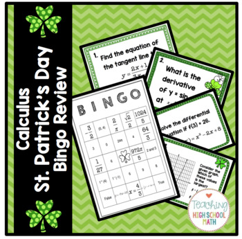 Calculus St. Patrick's Day Bingo Review