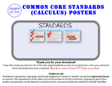 Calculus Standards Posters (AP Calculus)