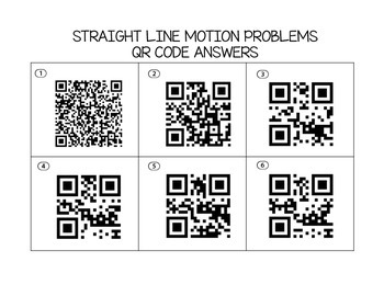 Calculus Straight Line Motion Task Cards (with optional QR Codes)
