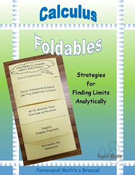 Calculus Foldable 1-1: Strategies for Finding Limits Analytically