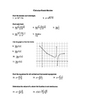 Calculus Study Guide and Exam