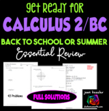 Calculus Readiness Prep for Calculus BC or Calculus 2