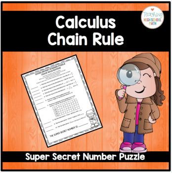 Calculus Super Secret Number Puzzle Chain Rule