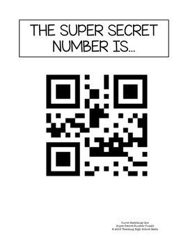 Calculus Super Secret Number Puzzle - Curve Sketching