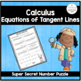 Calculus Super Secret Number Puzzle Equations of Tangent Lines