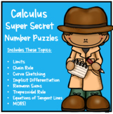 Calculus Super Secret Number Puzzles Bundle