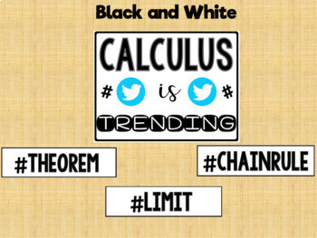 Calculus Hash Tag Poster