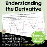 Understanding the Derivative (Calculus - Unit 2)