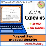 Calculus Tangent Lines Local Linearity for Google™ Distanc