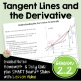 Calculus Tangent Lines and the Derivative with Lesson Vide