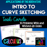 Calculus Introduction to Curve Sketching with Derivatives  QR  Task Cards -