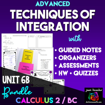 Calculus BC  Calculus 2  Techniques of Integration Bundle
