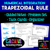 Calculus Trapezoid Rule Integration Task Cards Guided Notes Graphic Organizer
