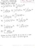 Calculus : Trigonometric Substitution