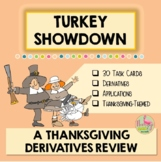 Calculus Derivatives Turkey Showdown Activity (Unit 3)
