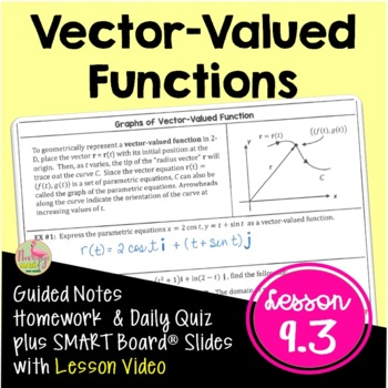 Calculus: Vector-Valued Functions