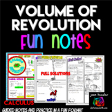 Calculus Volume of Revolution Comic Book Doodle Notes and