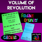 Calculus Volume of Revolution Flip Book Foldable Resource
