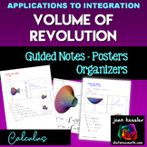 Calculus Volume of Revolution Posters Study Guide Disk Method
