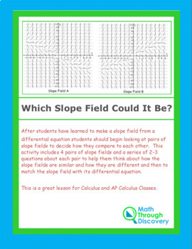 Calculus:  Which Slope Field Could It Be?