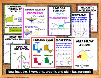 Calculus Vocabulary Word Wall