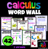 Calculus Vocabulary Word Wall Bulletin Board Posters