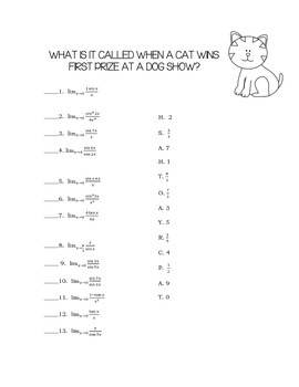 Calculus Working with Trig Limits (Squeeze and Sandwich Theorem) Packet
